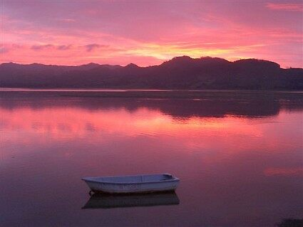 Sunset at Pio's Point Waihi Beach NZ. by DavmarPhoto