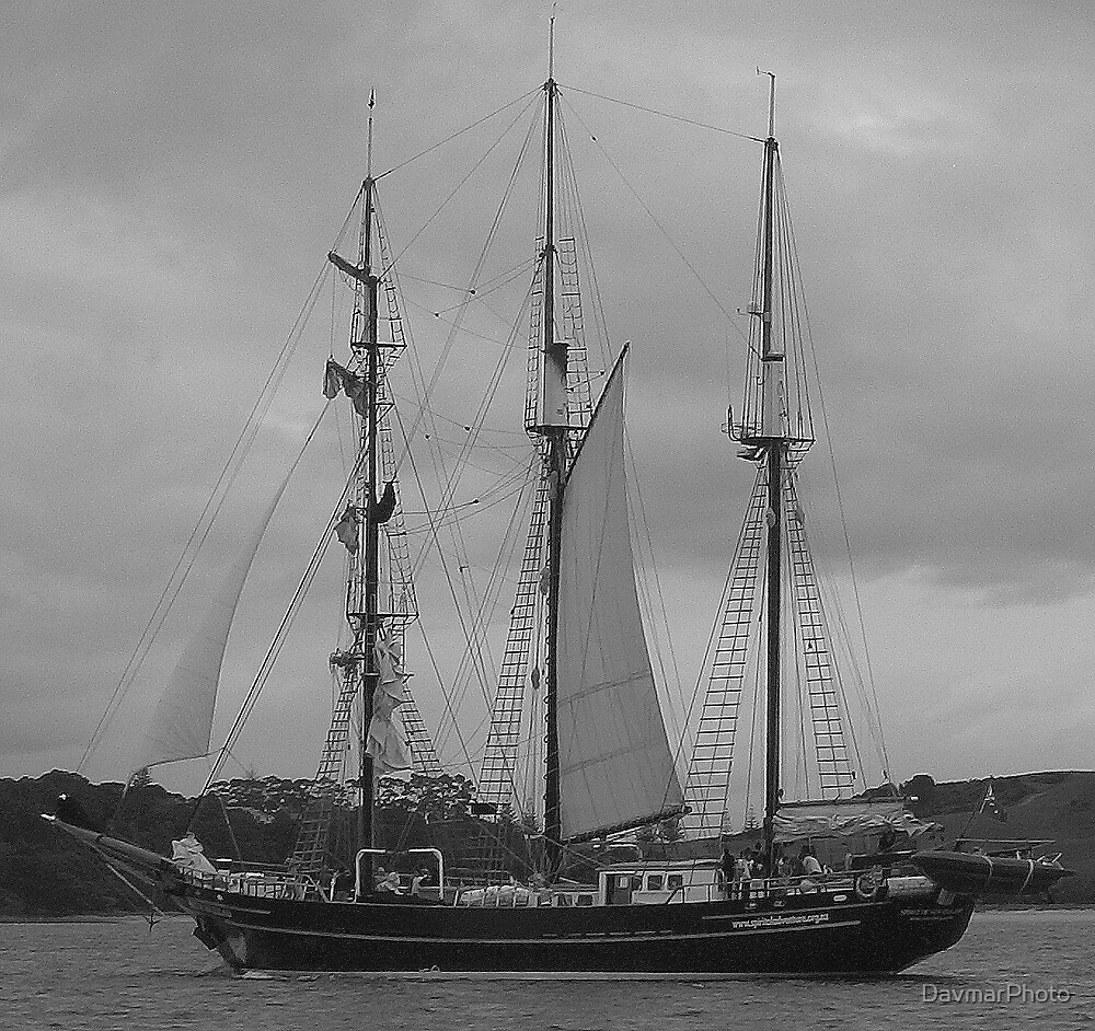 "Old Sailing Ship on Auckland Harbour ""Spirit of New Zealand"" by DavmarPhoto"
