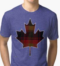 Canada's National Tartan in Maple Leaf  Tri-blend T-Shirt