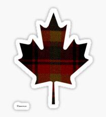 Canada's National Tartan in Maple Leaf  Sticker