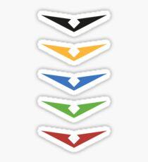 Voltron Paladin Symbols Sticker