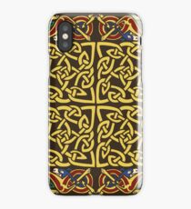 Gold Knotwork Squares and Hounds Border iPhone Case