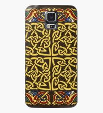 Gold Knotwork Squares and Hounds Border Case/Skin for Samsung Galaxy