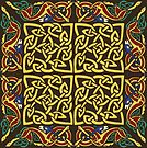 Gold Knotwork Squares and Hounds Border by Aakheperure