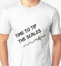 Time to tip the scales! (strong) Unisex T-Shirt
