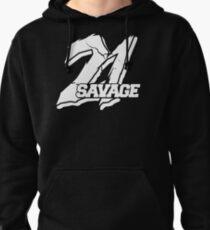 21 savage logo issa knife Pullover Hoodie