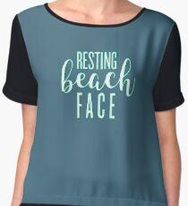 Resting Beach Face Women's Chiffon Top