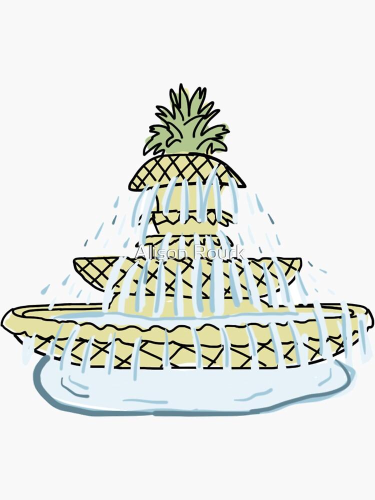 Charleston Pineapple Fountain by alisonrourk