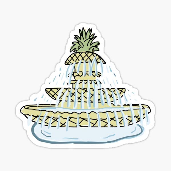 Charleston Pineapple Fountain Sticker