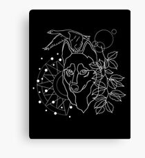 Wildlife 2 black Canvas Print