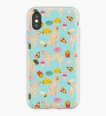 Vinilo o funda para iPhone Golden Retriever donuts papas fritas helado pizzas regalos divertidos perro razas de perros por PetFriendly