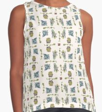 Summer Succulents, Spring Day - Pattern Contrast Tank