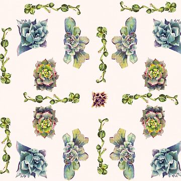 Summer Succulents, Spring Day - Pattern by EricaBottger