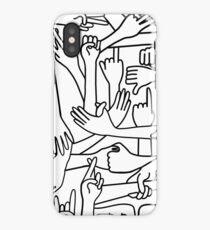 Hands on white background iPhone Case/Skin