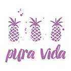 Pura Vida Pineapples in Lavender by Erin Morris
