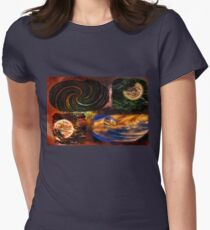 Space Art Womens Fitted T-Shirt