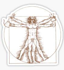 Vitruvian Barista Sticker