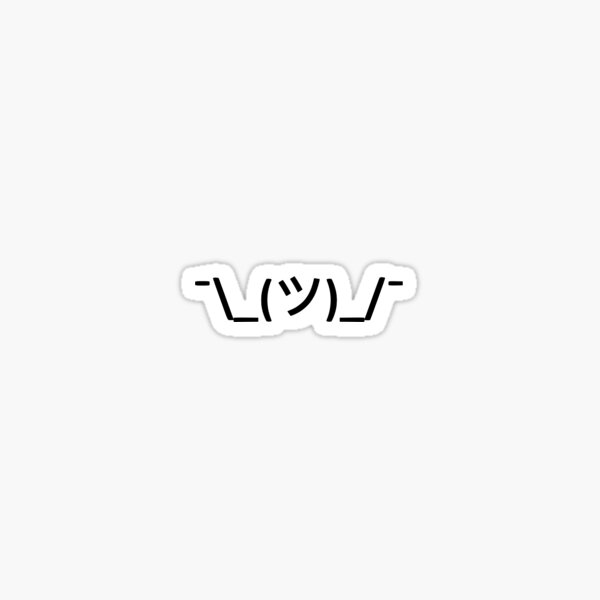 Achselzucken Emoji Sticker