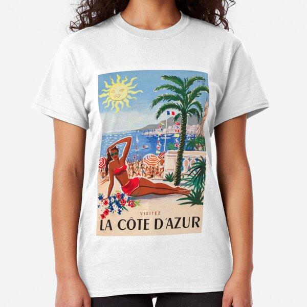 1955 France Visit La Cote D'Azur Travel Poster Classic T-Shirt