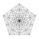 Abstract Geometry: The Pentagon (Black) by Thomas Erlandsen