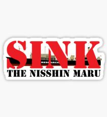 SINK THE NISSHIN MARU Sticker