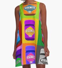 warhol style image of vegemite jars A-Line Dress