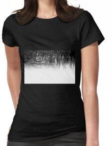 Water Reflections in Black and White Womens Fitted T-Shirt