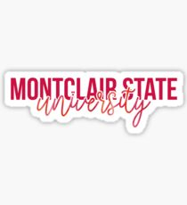 Montclair gifts merchandise redbubble montclair state university style 13 sticker negle Images