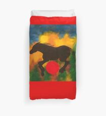 HORSE WITH RED BALL Duvet Cover