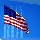 US Flag with Jets. by dstarj