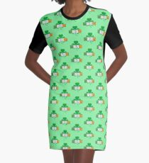Irish cloverleaf chemical element Rz37b Graphic T-Shirt Dress