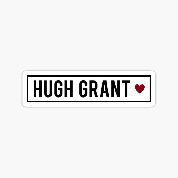 Hugh Grant Sticker