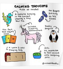 Calming Thoughts Poster