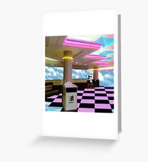 Vaporwave Plaza Greeting Card