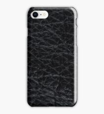 Black leather  iPhone Case/Skin