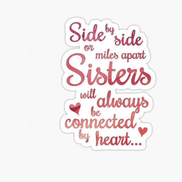 Sisters Side by Side Sticker