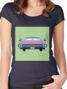 classic 1950s car Women's Fitted Scoop T-Shirt