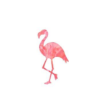 Flamenco rosado de la acuarela de jashirts