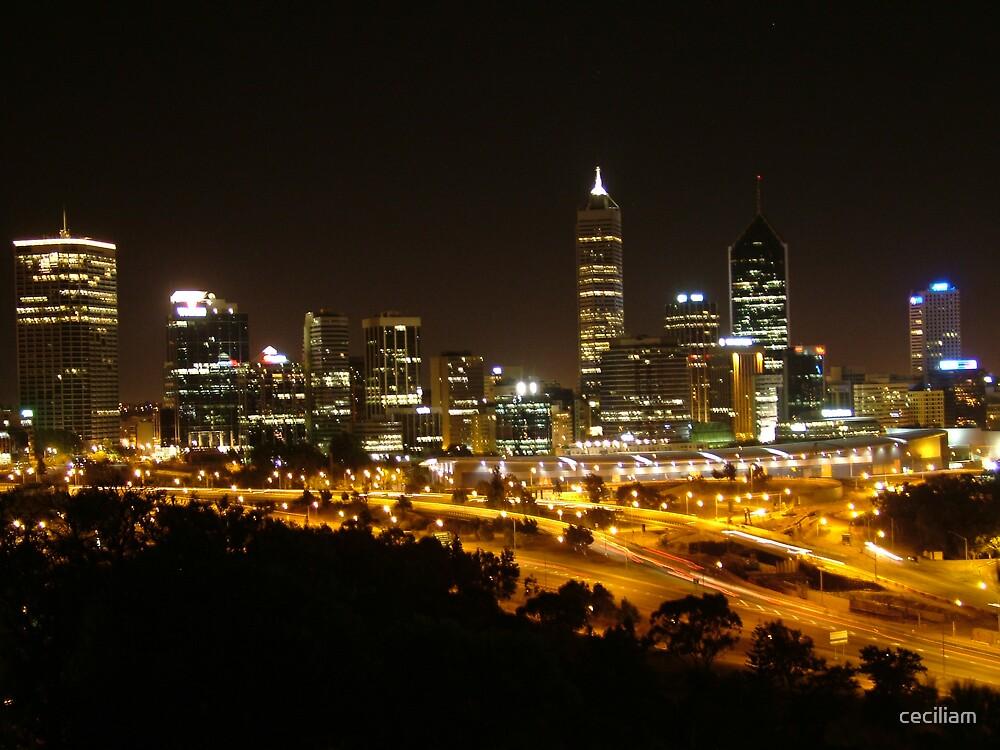 Perth by night by ceciliam
