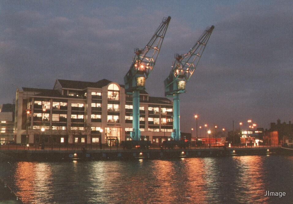 Dock cranes by JImage
