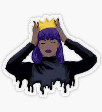 Purple Queen Transparent Sticker