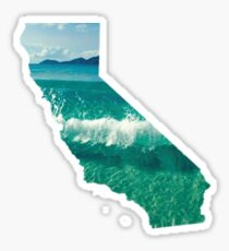 California Waves Sticker