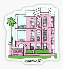 Charleston Pink Barbie House Sticker