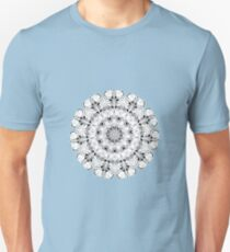 fine line black and white mandala T-Shirt