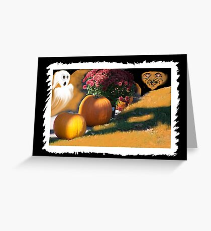 Ghostly Fears Hallowed Eve Greeting Card
