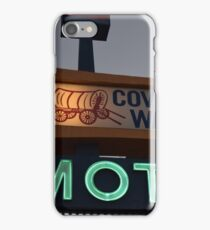 Covered Wagon Motel iPhone Case/Skin