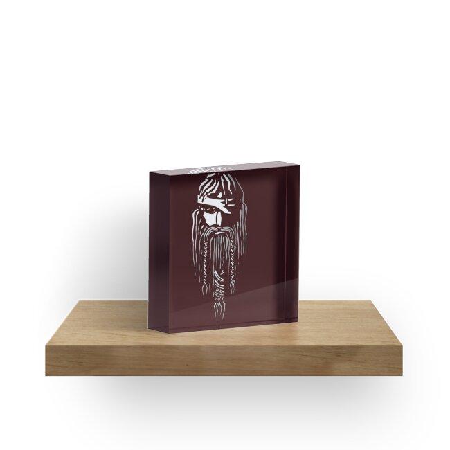 'Odin Norse Mythology' Acrylic Block by EllipsisWorld