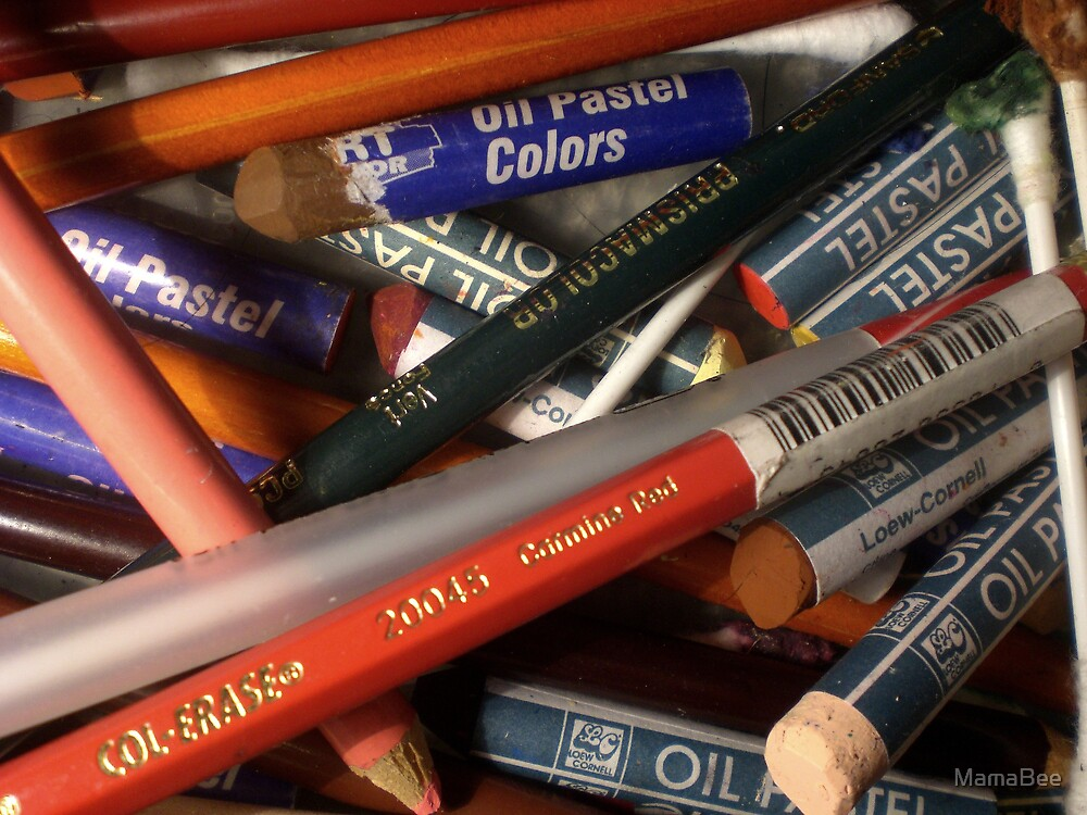 Pencils & Pastels by MamaBee