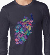 Paisley Peacock Long Sleeve T-Shirt