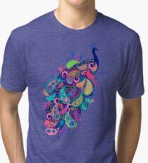 Paisley Peacock Tri-blend T-Shirt